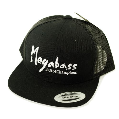 Megabass Brush Trucker Cap (Col : Black)